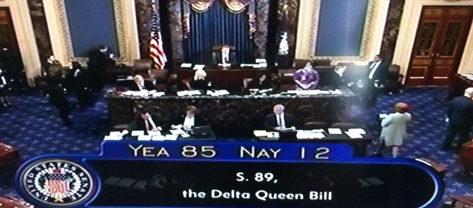 Delta Queen Overnight Steamboat Senate Vote