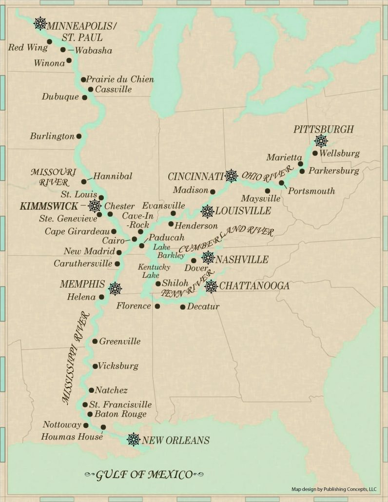 Delta Queen Overnight Steamboat Voyages Map